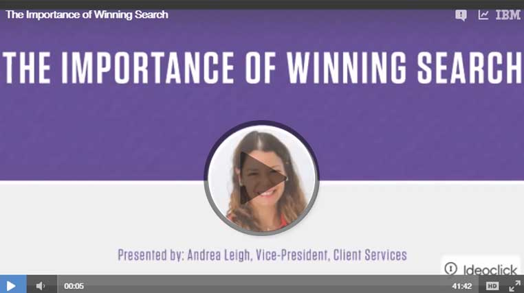 The Importance of Winning Search