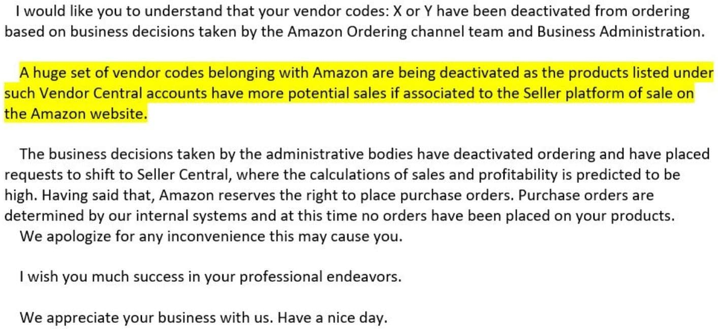 Vendors snubbed by Amazon's ordering system